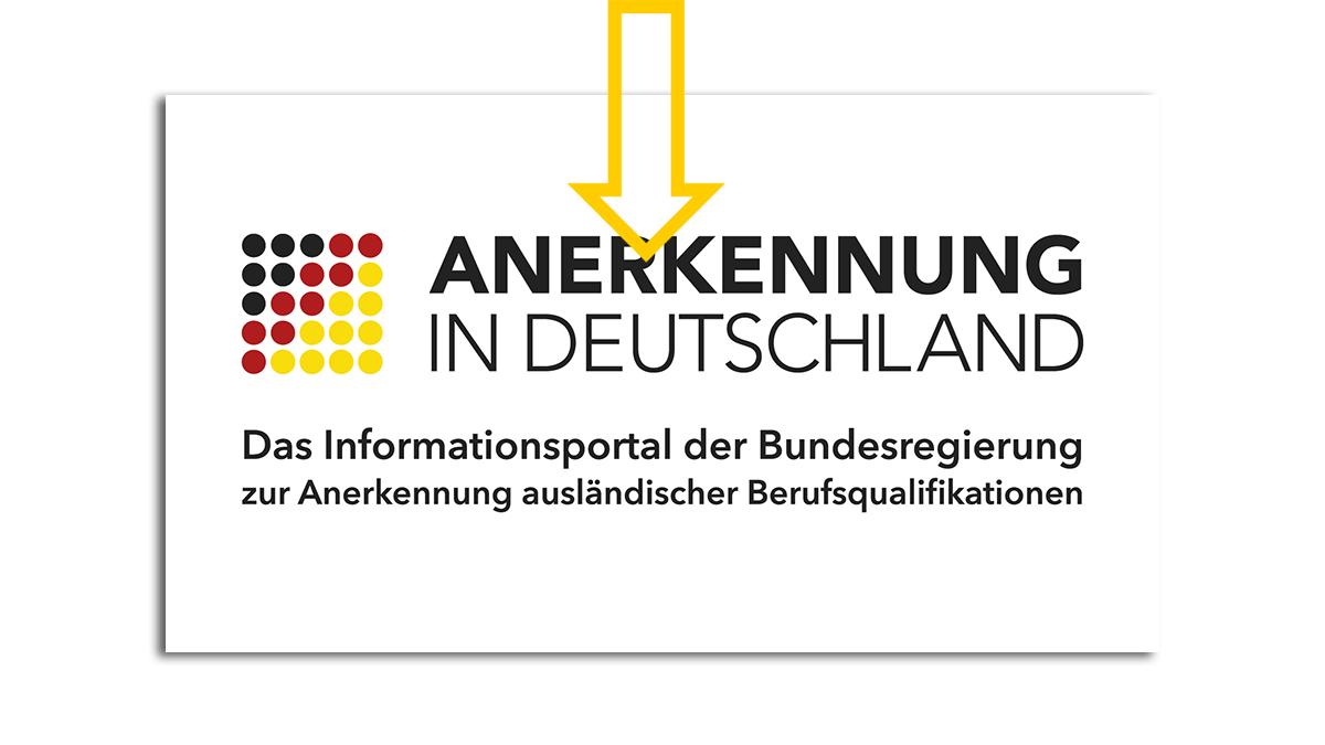 """Logo von """"Anerkennung in Deutschland"""""""